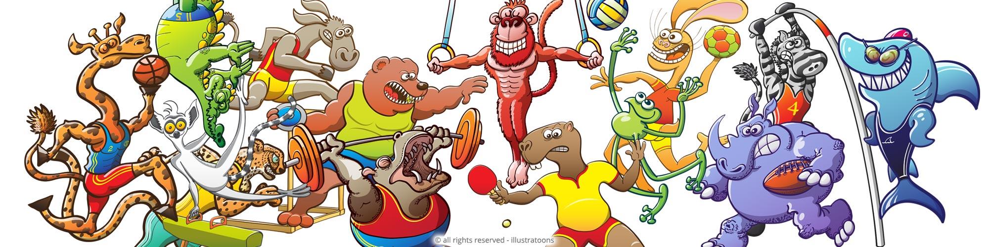 Illustratoons-Sports-Animals-Gallery
