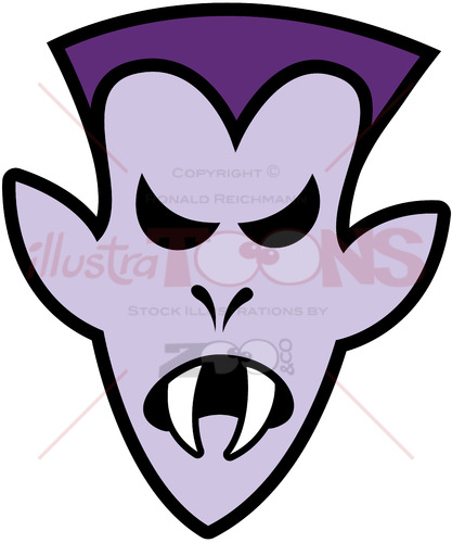 Angry Halloween Dracula - illustratoons