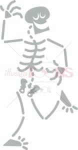 Cool Halloween skeleton dancing joyfully - illustratoons