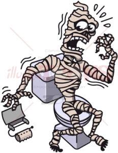 Halloween mummy's worst nightmare ever - illustratoons