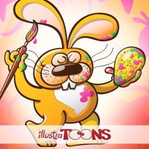 Funny Easter bunnies collection