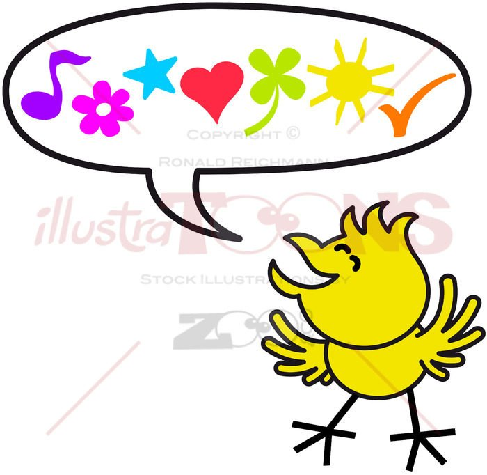 Good little chicken expressing nice wishes - illustratoons