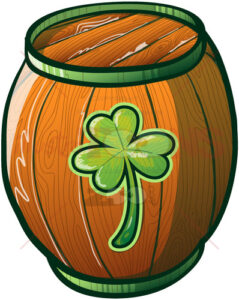 Lucky you, it's a Saint Patrick's Day beer barrel! - illustratoons
