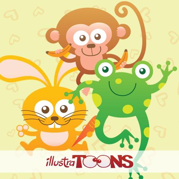 Cute baby animals collection