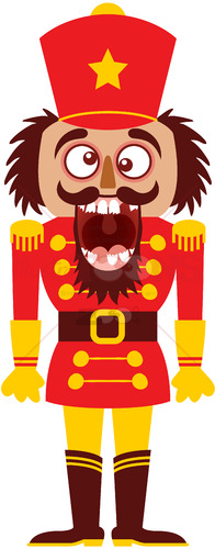 The Christmas nutcracker broke its teeth and went nuts! - illustratoons