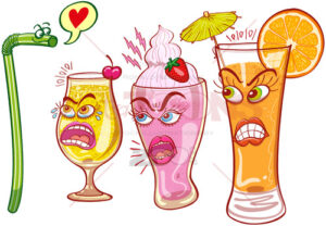 Plastic straw is rejected when flirting with sexy drinks - illustratoons