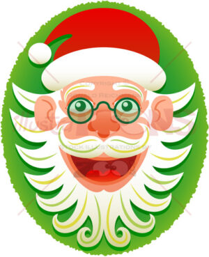 Hipster Santa Claus posing for a Christmas portrait - illustratoons
