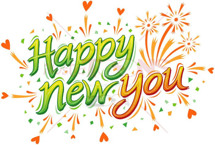 Happy new you is my best wish for you this year! - illustratoons