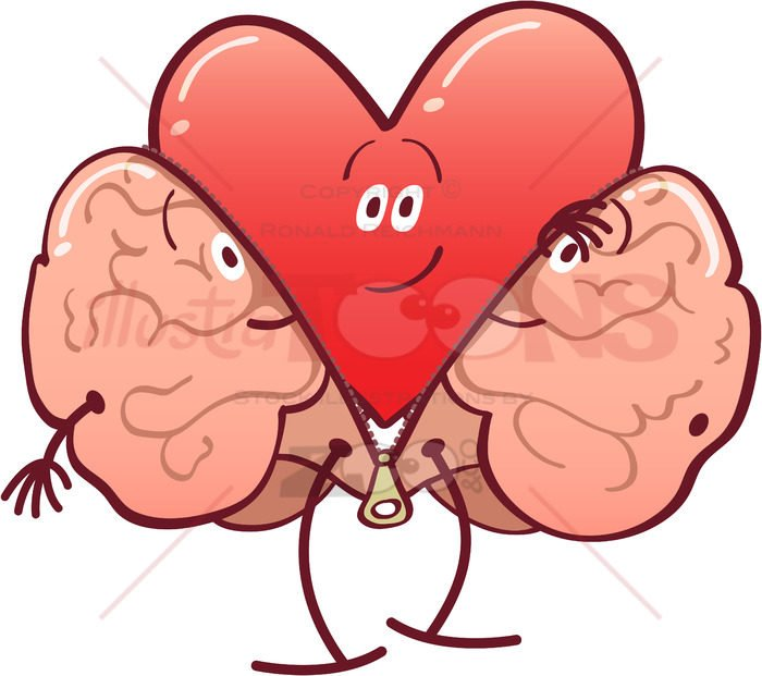 Mischievous heart getting rid of a brain costume - illustratoons