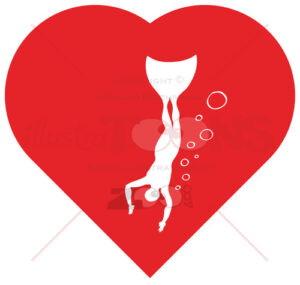 Freediving into the depths of the heart - illustratoons