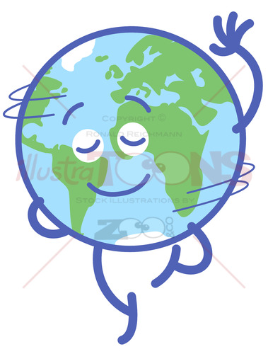Nice planet Earth rotating graciously - illustratoons