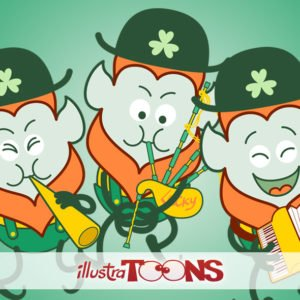 St Patrick's Day Leprechauns having fun collection
