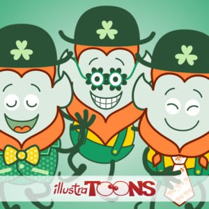 Funny Leprechauns celebrating St Paddy's Day collection