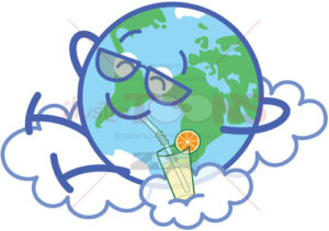 A well deserved break for our beloved planet Earth - illustratoons