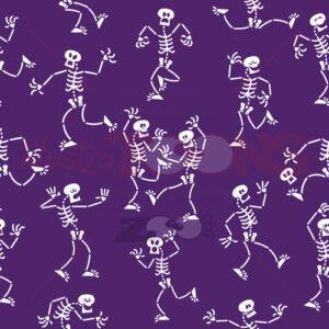 Cool skeletons having fun celebrating Halloween - illustratoons