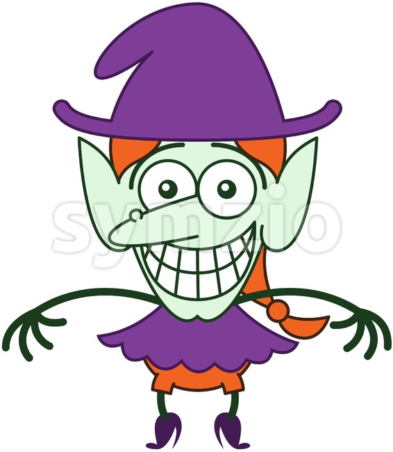 Halloween witch feeling embarrassed Stock Vector