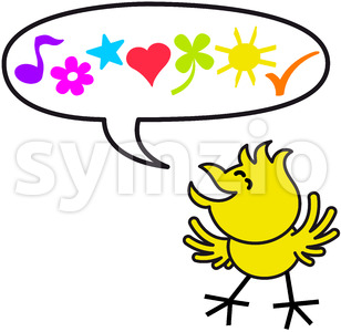 Good little chicken expressing nice wishes Stock Vector