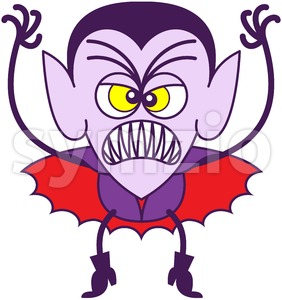 Halloween Dracula in scary mood Stock Vector