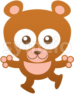 Friendly baby bear opening its arms to give you a big hug Stock Vector