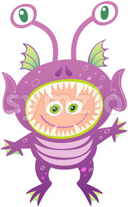 Nice boy wearing an alien costume for Halloween Stock Vector