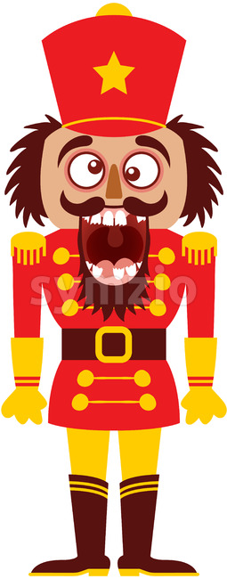 The Christmas nutcracker broke its teeth and went nuts! Stock Vector