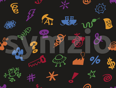 Graphic bad words in a seamless pattern Stock Vector