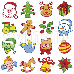Christmas stars are ready to celebrate big Stock Vector