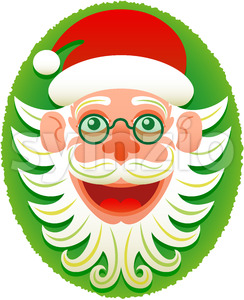 Hipster Santa Claus posing for a Christmas portrait Stock Vector