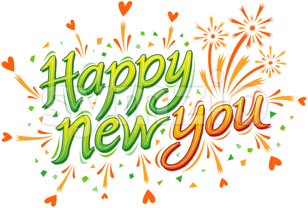 Happy new you is my best wish for you this year! Stock Vector