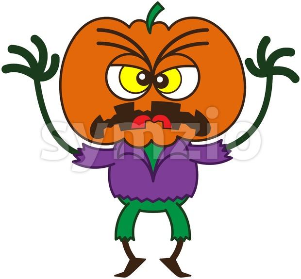 Halloween scarecrow looking frightening Stock Vector