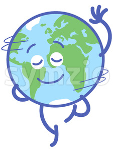 Nice planet Earth rotating graciously Stock Vector