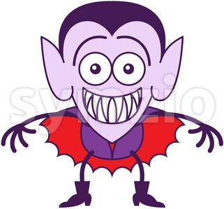 Halloween Dracula feeling embarrassed Stock Vector