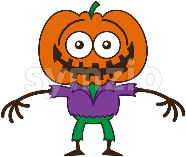 Halloween scarecrow feeling embarrassed Stock Vector