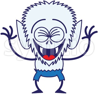 Halloween werewolf laughing joyfully Stock Vector