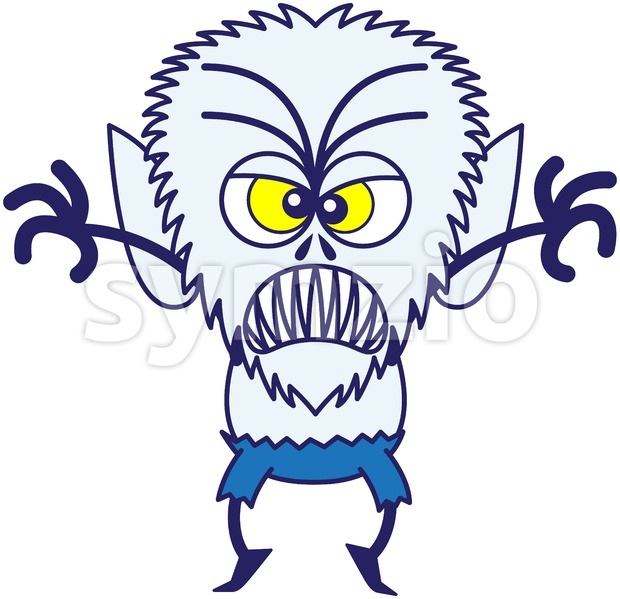 Halloween werewolf in full scary mood Stock Vector