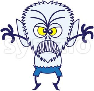 Halloween werewolf in full scary mood Stock Vector