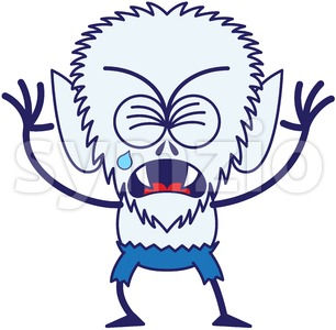 Halloween werewolf crying and whining Stock Vector