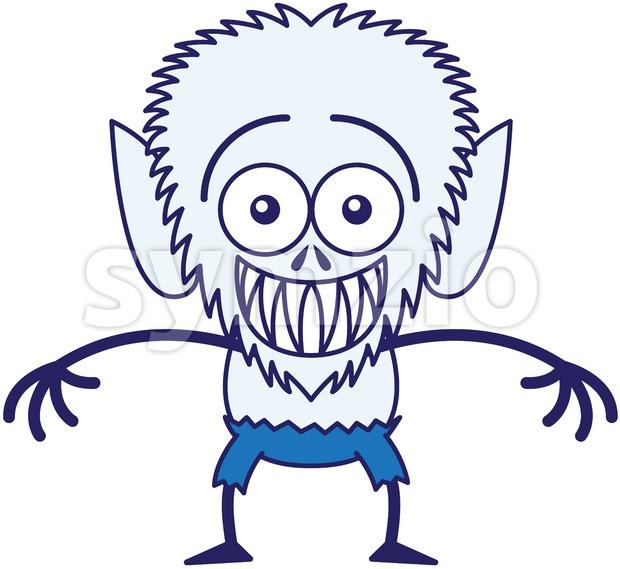 Halloween werewolf feeling embarrassed Stock Vector