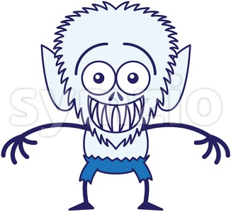 Halloween werewolf feeling embarrassed Stock Vector