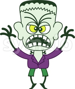Scary Halloween Frankenstein Stock Vector