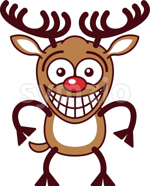 Embarrassed Christmas reindeer Stock Vector