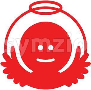 Smiling Christmas angel pictogram Stock Vector