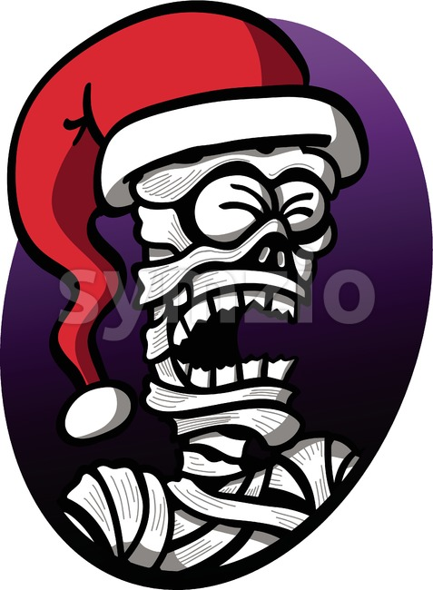 Christmas mummy moaning piteously Stock Vector