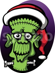 Disturbing Christmas Frankenstein Stock Vector