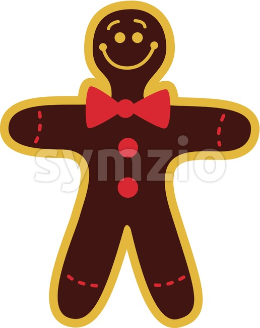 Smiling Xmas Cookie Man Stock Vector