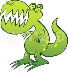 Tyrannosaurus Rex groaning angrily Stock Vector