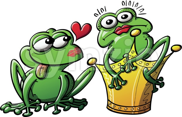 The princess turned into a frog Stock Vector