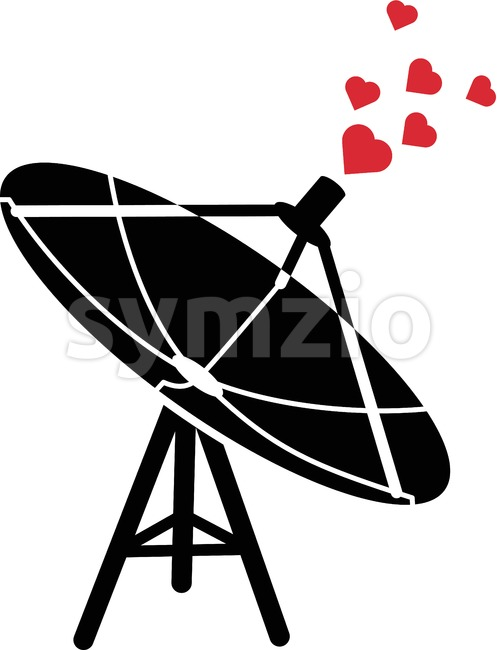 Communications antenna emitting love waves Stock Vector