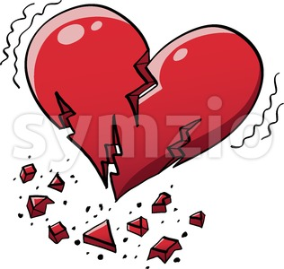 Extreme heart quake Stock Vector