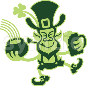 Saint Paddy's Day dancing Leprechaun Stock Vector